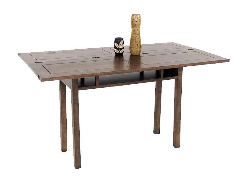 Table console extensible bois massif mat mineraux table - Console extensible rallonge integree ...