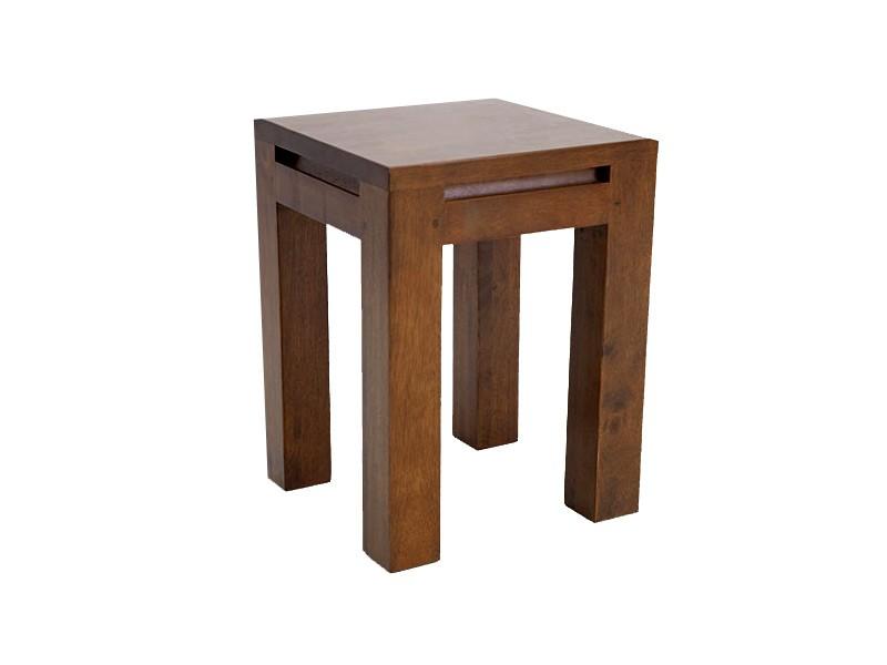 tabouret en bois de ch taiginier massif oscar assise en bois meubles bois massif. Black Bedroom Furniture Sets. Home Design Ideas