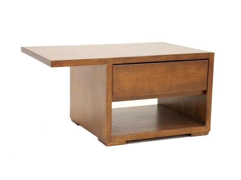 chevet en bois massif de ch taignier oscar 1 tiroir 1 niche meubles bois massif. Black Bedroom Furniture Sets. Home Design Ideas