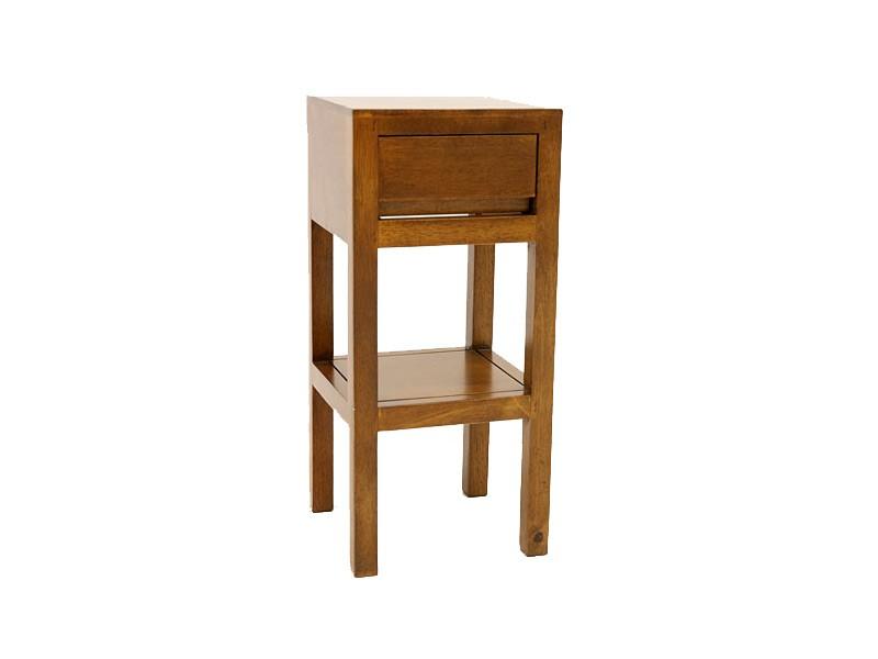 Chevet en bois exotique oscar sur pied for Entretien meuble bois exotique