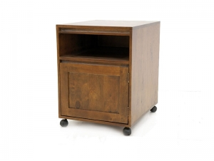 cube sous bureau roulant oscar 1 porte 1 niche meubles bois massif. Black Bedroom Furniture Sets. Home Design Ideas
