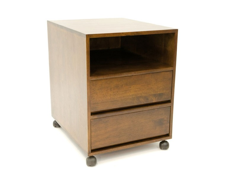 cube sous bureau oscar en bois 2 tiroirs 1 niche. Black Bedroom Furniture Sets. Home Design Ideas