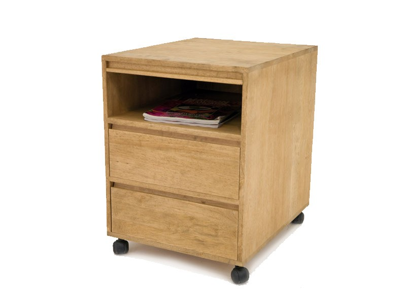 cube sous bureau oscar en bois 2 tiroirs 1 niche meubles bois massif. Black Bedroom Furniture Sets. Home Design Ideas