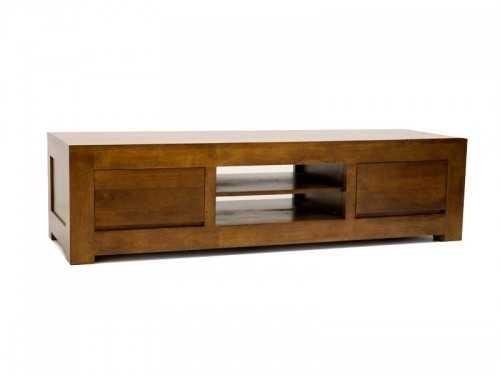 meuble tv sur socle oscar en bois de ch taignier 2 tiroirs 1 niche meubles bois massif. Black Bedroom Furniture Sets. Home Design Ideas