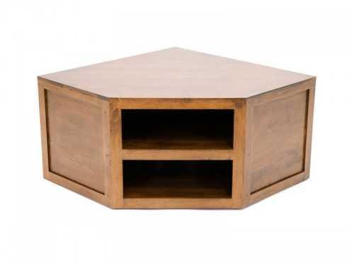 meuble tv d 39 angle oscar 2 niches en bois de ch taignier. Black Bedroom Furniture Sets. Home Design Ideas