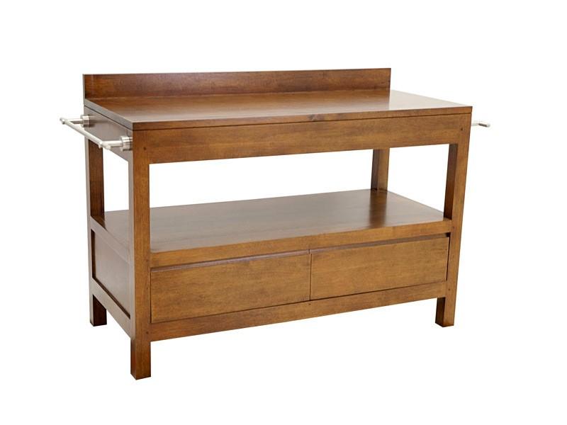meuble de salle de bain oscar 2 tiroirs double plateau. Black Bedroom Furniture Sets. Home Design Ideas