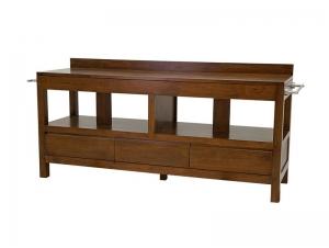meuble de salle de bain oscar avec porte serviettes et 3 tiroirs meubles bois massif. Black Bedroom Furniture Sets. Home Design Ideas