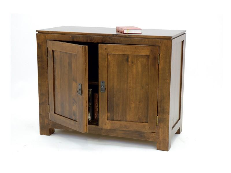buffet holly en bois de ch taiginier 2 portes avec tag res en bois meubles bois massif. Black Bedroom Furniture Sets. Home Design Ideas