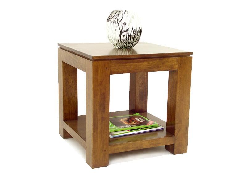 table de chevet holly en bois massif double plateau meubles bois massif. Black Bedroom Furniture Sets. Home Design Ideas