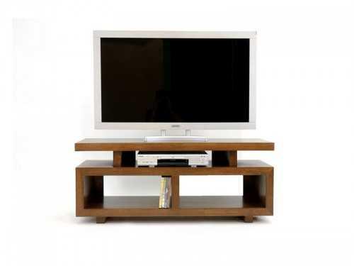 Meuble tv contemporain holly 3 plateaux compartiment s for Meuble tv solde