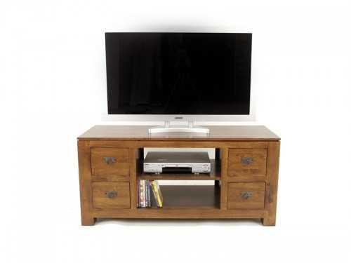Meuble tv contemporain holly 4 tiroirs 1 niche avec for Meuble tv solde