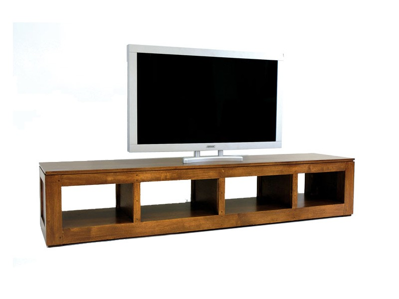 banc tv holly 4 niches en bois massif de ch taignier meubles bois massif. Black Bedroom Furniture Sets. Home Design Ideas