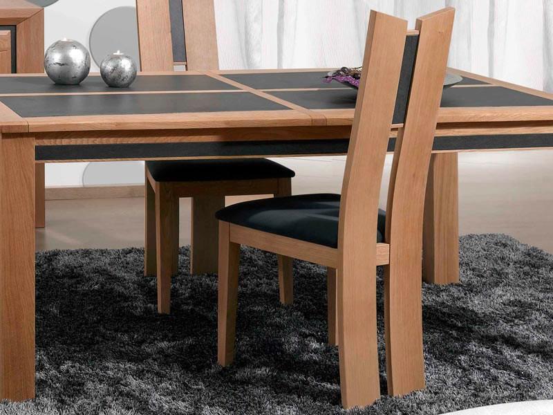 Chaise parme en ch ne massif meubles bois massif for Chaise bercante en bois massif