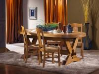 table repas ovale rustique