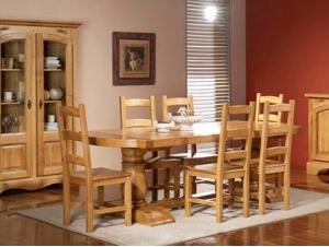 salle à manger rustique table monastère
