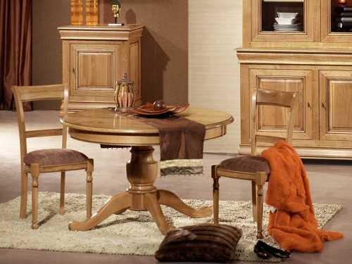 Table ronde rustique