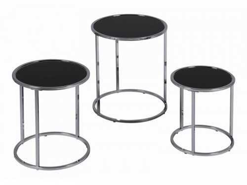Set de tables gigognes inox