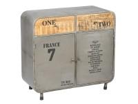 Bahut vintage acier gris