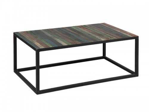 Table basse vintage en acier