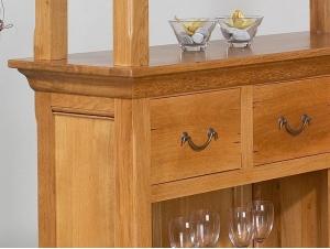 Bar rustique, détail en chene