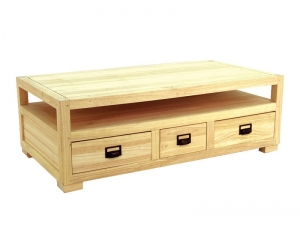 Table basse, teinte naturel